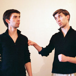 Ryan and Austin Jacobs play otto and OTTO in Edward Albee's Me, Myself & I.