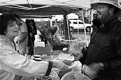 At the Houston Farmers&#039; Market, held Saturday 