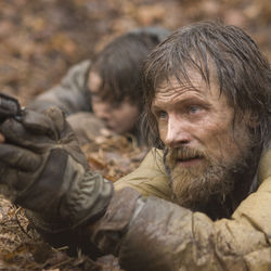 The increasingly Christ-like Viggo Mortensen plays The Man.