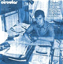 The newsletter that launched a career: Guy Zapoleon on the cover of Warner Bros.' Circular, circa 1972.