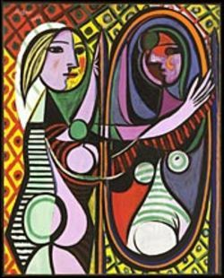 Girl Before a Mirror may have shades of 