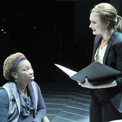 The play (with Portia and Rebecca Brooksher) is entertaining and unpredictable.