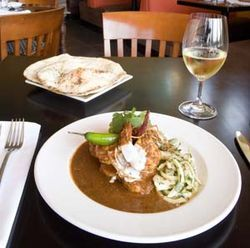 The shrimp vindaloo is so sensational, you'll want another plate.