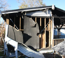After the first fire, the Spring Branch house was salvageable.