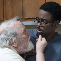 The father and the boyfriend: Albert Delpy and Chris Rock.