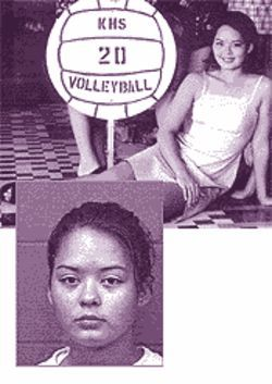 Lisa Warzeka (with the volleyball team, and after her arrest) was the only girl who seemed to realize she may have ruined her life.