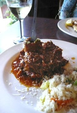 The osso buco is absolutely spectacular.