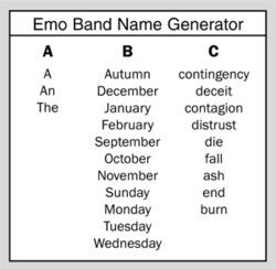 The Emo Band Name Generator