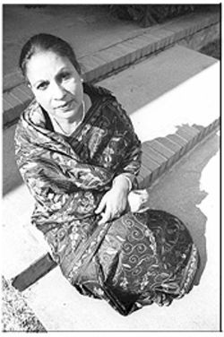 Selina Ahmed, shown here in traditional Bangladeshi dress, is one of the many Muslim women in Houston who choose not to cover at all.