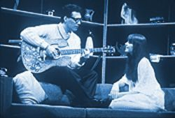 A scene with Maria Elena Santiago and late husband Buddy Holly.