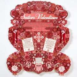 Cut-paper extravaganza: Dario Robleto's Demonstrations of Sailor's Valentines.