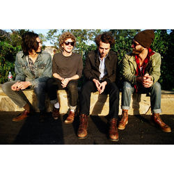 The boys from Big Pink (l-r): Dawes's Wylie Gelber, Griffin Goldsmith, Taylor Goldsmith and Tay Strathairn.