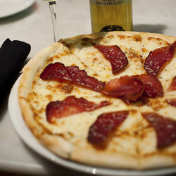 You can't lose with the white pizza with bresaola.