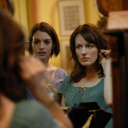 Left to Right: Anne Hathaway as Kym, Rosemarie DeWitt as Rachel in Rachel Getting Married.