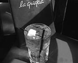 La Griglia's Mount Gay rum and tonic