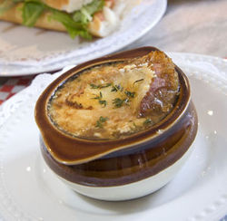 The onion soup is straightforward but tastes terrific.