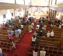 Many longtime church members deserted Santa Teresa's English mass because of Father Raymundo's social activism.