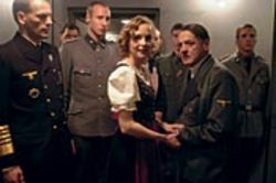 We're supposed to feel grudging sympathy for Eva  Braun (Juliane Köhler), the girlfriend of Hitler (Bruno  Ganz).