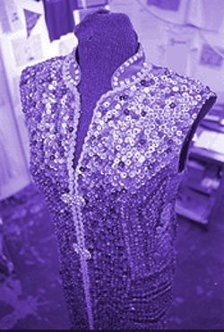 The secret garden: Mother Brooks's sequin dress.