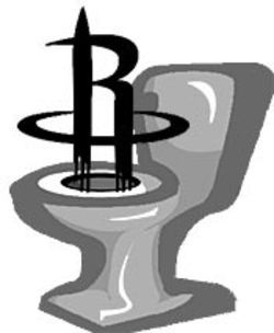 "On seeing the new logo, one sports fan imagined ""a  rocket shooting out of a toilet."""