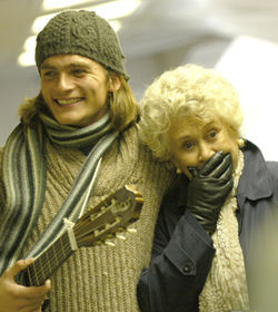 Ludo and Mrs. Palfrey (Rupert Friend and Joan Plowright) find family where they can: in each other.
