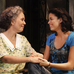 Abuela Claudia (Elise Santora) welcomes Nina (Arielle Jacobs) back to the neighborhood.