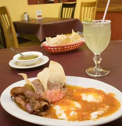 At $3.95, the huevos rancheros are among the best breakfast deals in town.