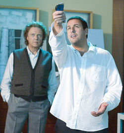 With his magic remote, Michael (Adam Sandler, right, with Christopher Walken) can skip whole chapters of his life.