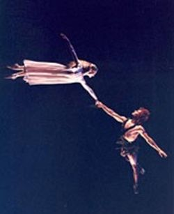 Sara Webb and Randy Herrera dazzle as they fly through the air.
