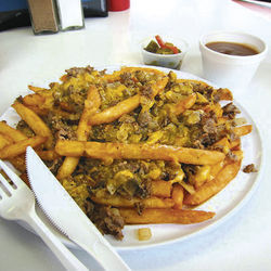 Philly poutine. Patent it, Pappa Geno's.