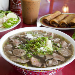 Get cozy with a steamy bowl of pho.