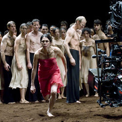 Pina Bausch died unexpectedly right before shooting on the film began.