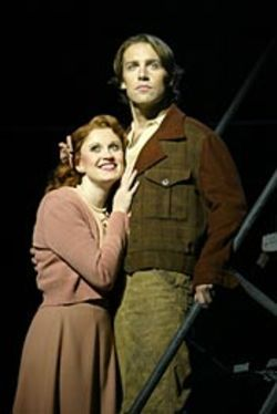Christiane Noll and Charlie Pollock are golden in  Urinetown.