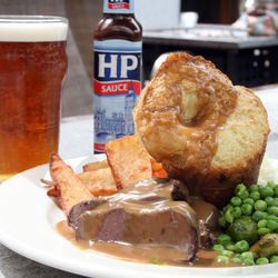 Sunday lunch is an English staple and can be enjoyed with a pint at The Red Lion.