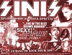 Sinis's flyer for its upcoming gig.