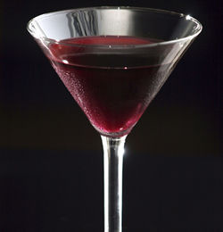 Ziggy&#039;s pomegranate martini