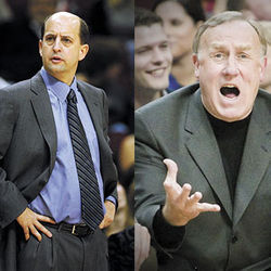 Meet the new boss: Click here for a head-to-head comparison between Jeff Van Gundy and Rick Adelman.