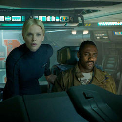 Vickers and Janeck (Charlize Theron and Idris Elba) star in this ambitious movie gone wrong.