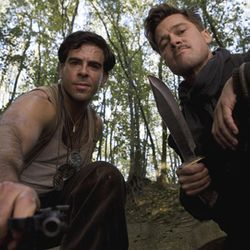 Out for blood: Lieutenant Aldo Raine (Brad Pitt) and Sergeant Donny Donowitz (Eli Roth).