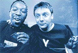 Stark raving mad: Koop (Shaun Parkes, left) and Jip (John Simm) seek relief 