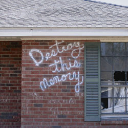 Richard Misrach captured graffiti across New Orleans, and voices of the dispossessed.