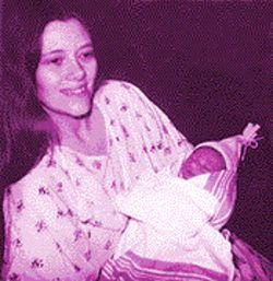 Angela and Sylvan shortly after his birth, and before the baby was removed by CPS.