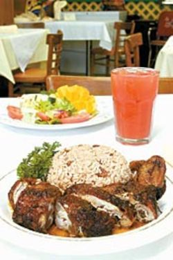 When Tropical Grill&#039;s jerk chicken is wood-smoked, it&#039;s 