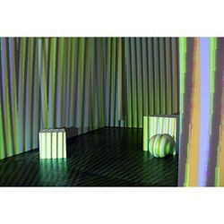 Carlos Cruz-Diez uses new technology to re-create a 1975 installation, Environment Chromointerfrent.