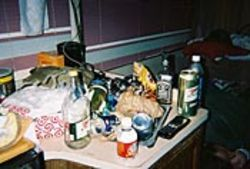 Inside the RV there was a certain amount of chaos as 