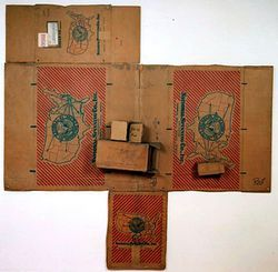 Presented like altarpieces, Rauschenberg's boxes are rumored to be valued in the millions.