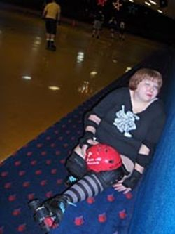 Rippin' Red says roller derby saved her life.