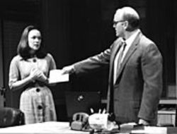 The playwright puts Lynette (Elizabeth Bunch) at the center of the storm surrounding Kennedy's assassination.