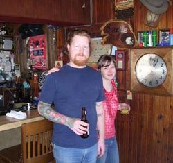 Secret Saturday host J.D. Tucker and wife Stacy, a Shady&#039;s bartender