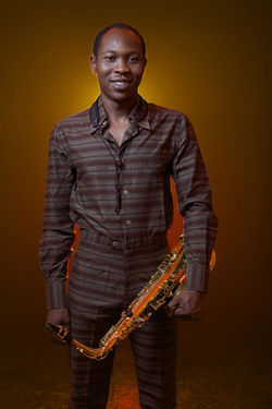 Seun Kuti stands up From Africa with Fury.